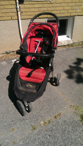 Baby Jogger City Mini with car seat adapter and tray