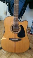 Takamine Electric Acoustic Guitar + silhouette 120V amp