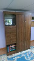 3 piece bookcase / wall unit