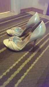 Aldo silver High heels 9 Open To toes