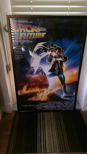 Back to the Future movie poster framed.