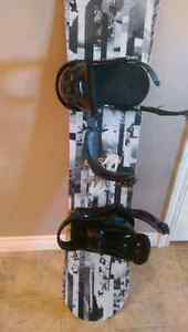 Burton snowboard and bindings