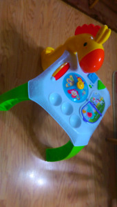 Kids activity table and ball popper toy