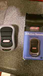 For sale brand new 3 button universal remote for 3 garage doors