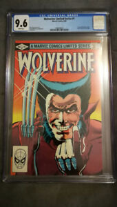 Wolverine Limited Series 1 CGC 9.6 White Pages Frank Miller