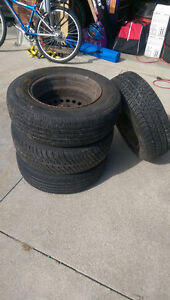 """Set of 8 All Season Tires and Rims 14"""""""