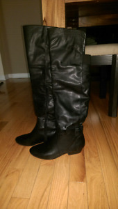 Various styles and material boots, size from 8 to 9.