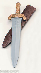 NEW-ROMAN-SOLDIER-PLASTIC-TOY-SWORD-WITH-SCABBARD-FANCY-DRESS-COSTUME-ACCESSORY
