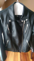 Faux-leather jacket size medium