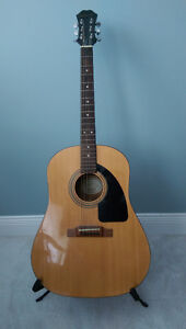 Gibson Epiphone AJ-10 Acoustic Guitar. With Stand and Case.