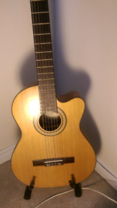 Rivera Acoustic guitar w/stand and soft case.