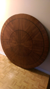 LAZY SUSAN DINING TABLE + INLAID LAZY SUSAN->MINT CONDITION!!!