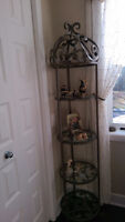 Round Etagere with glass shelves