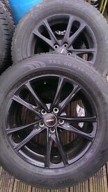 Landrover discovery alloy wheels and tyres