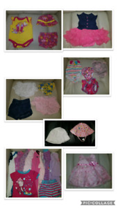 80+pcs baby girl clothes 3-6m