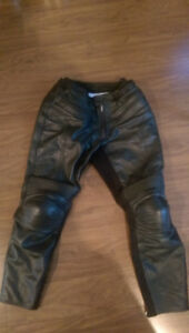 Motorcycle Leather Armoured pants