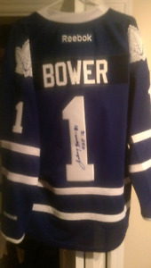Autographed Johnny bower jersey