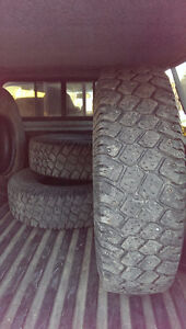 4- LT235/85R16 studed winter tires, used.