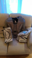 Goalie Chest Protector, Blocker, and Catcher