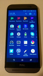 Unlocked HTC one M8,32GB,Work with Wind(freedommobile)
