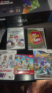 Wii Console + 5 games - Inc. Super Mario Wii and Mario Kart