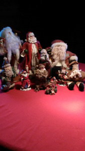 Collection of 12 assorted Santas