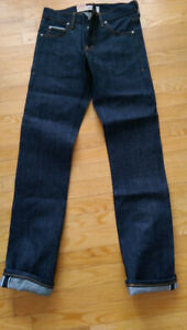 NWT Naked & Famous Skinny Guy Left Hand Twill Raw Denim Size 30W