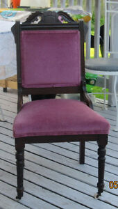 1870'S VICTORIAN SIDE CHAIR EASTLAKE EBONIZED FINISH