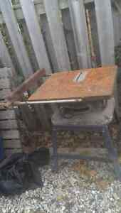 Beaver table saw and steel stand
