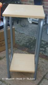 Beech/metal side table
