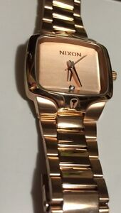 Nixon Watch -small player (rose gold) $175