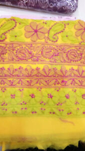 Chikan (embroidery) Dress material completely hand made