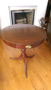 Bombay pedestal accent table