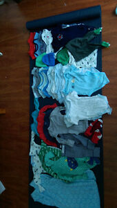 Lot of baby boy newborn clothes