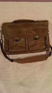 Leather Wilson laptop / brief case bag