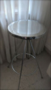 Stool - Silver Stainless Steel - $30 (Yonge College)