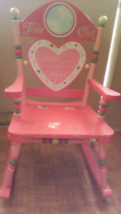 """Girl's """"Time Out"""" Rocking Chair"""