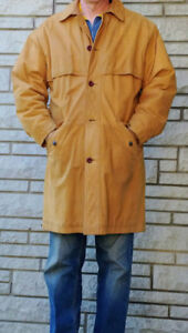 Timberland leather winter coat, manteau d'hiver cuir 40-44