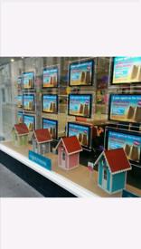 Estate agency LED A3 window display