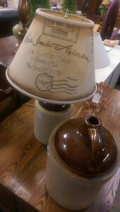 Antique Stoneware Whiskey jug Lamp