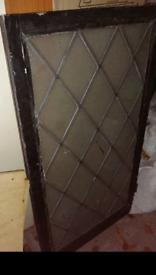 Reclaimed windows Leaded Light Diamond Panel Wooden