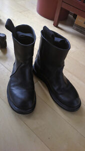 Rick Owens Calf Leather Motorcycle Boots