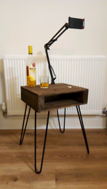 Pallet Table Rustic Retro Funky w Hairpin Legs Hand made in Mcr