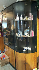 China cabinet and matching table and chairs