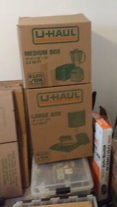 U-HAUL MOVING BOXES CLEAN