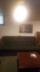 Couch Blue 7 feet long solid! $80 steal at that price!