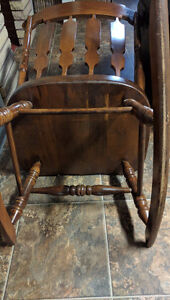 Hand made antique rocking chair London Ontario image 3