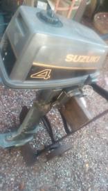 Suzuki long shaft 4hp outboard motor