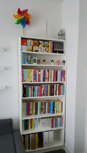 Bibliothèque blanc  Billy Ikea / white IKEA Billy bookshelf