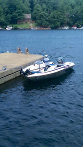 Skeeter 16ft Bass Boat, Trailer, and trolling motor for sale
